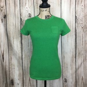 GAP Green ANGORA Knit Top Shirt Small